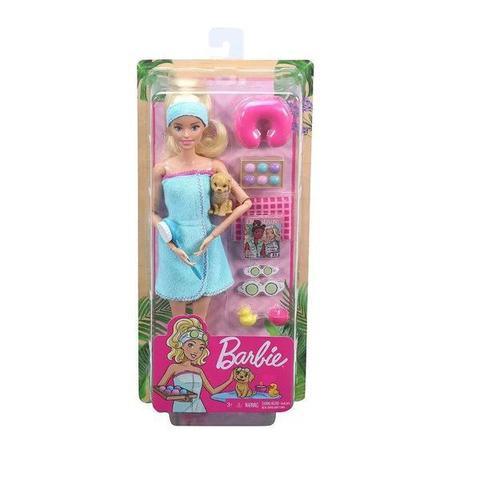 Imagem de Barbie Fashionista Dia de SPA com Filhotinho Mattel GKH73/GJG55