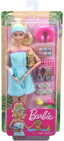 Imagem de Barbie Fashionista Dia de SPA com Filhotinho Mattel