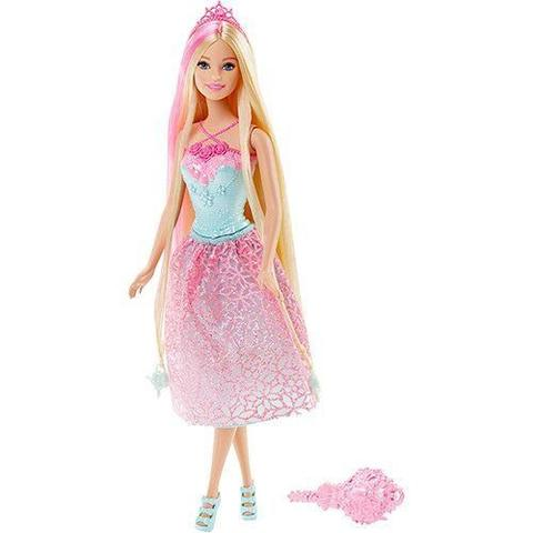Imagem de Barbie Princesa Cabelos Longos Rosa Mattel DKB56/DKB60