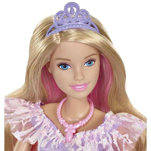 Imagem de Barbie Princesa Vestido Brilhante Gfr45 Mattel
