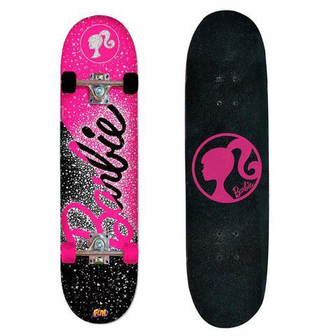 Imagem de Barbie Skate com Acessórios de Segurança e Adesivos Glitter - Fun Divirta-Se