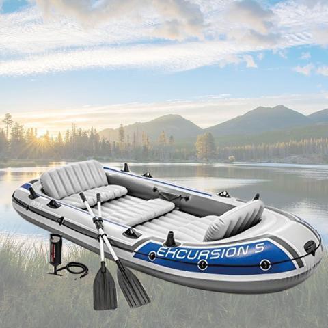 Imagem de Barco Bote Inflável Excursion 5 - Intex Remos E Bomba