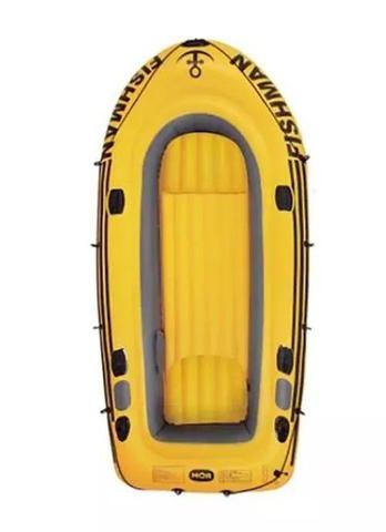 Imagem de Barco Inflável Bote para 4 Pessoas ou 340kg Mor 001854 com Bomba 2 Remos Lagos Represas Pescaria