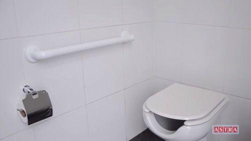 Imagem de Barra De Apoio Banheiro 30cm Branco\ Idoso Deficiente Astra