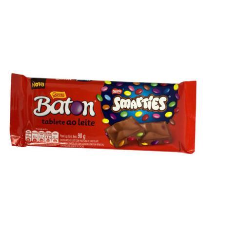 Imagem de Barra de chocolate smarties 90g baton