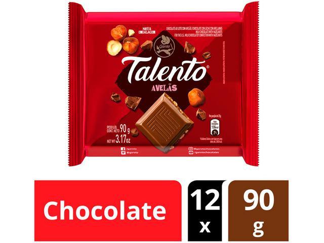 Imagem de Barra de Chocolate Talento Ao Leite com Avelãs