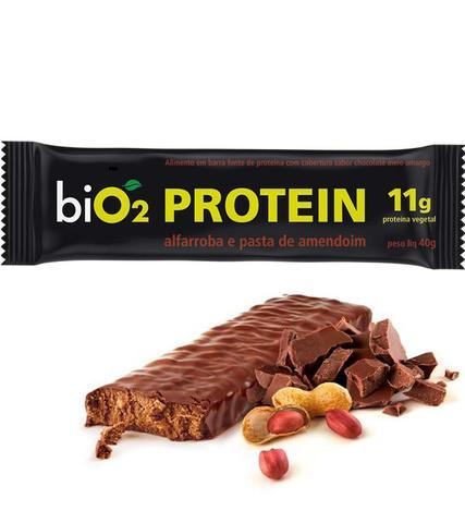 Imagem de Barra de proteína Alfarroba e Pasta de Amendoim 40g - biO2