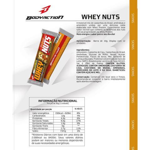 Imagem de Barra de Proteína Whey Nuts c/12 Unid. - Body Action