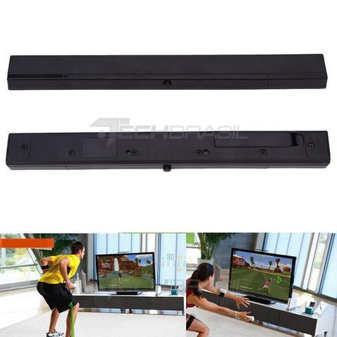 Imagem de Barra Nintendo Wii Sensor Infravermelho Sem Fio Wii U Preto