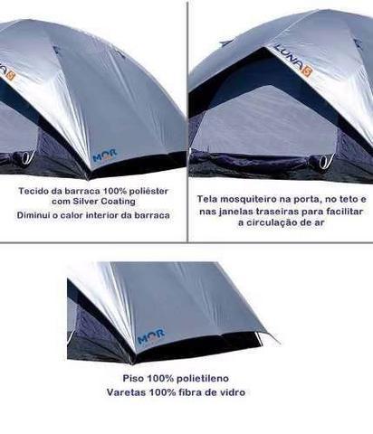 Imagem de Barraca Camping Luna 5 Pessoas + Colchão Casal Inflável Mor