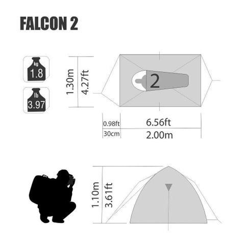 Imagem de Barraca Falcon 2 Pessoas Nautika - 150620
