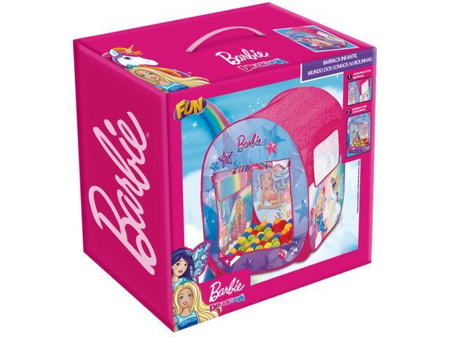 Imagem de Barraca Infantil Barbie com 50 Bolinhas