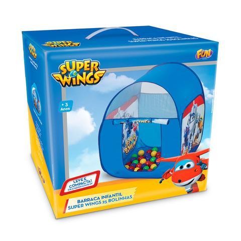 Imagem de Barraca Infantil Fun Super Wings Com 25 Bolinhas Azul