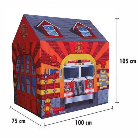 Imagem de Barraca Infantil Menino Tenda Cabana Bombeiro Grande 105 Cm