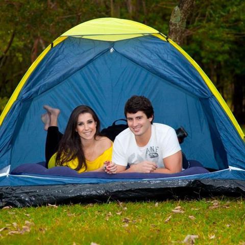Imagem de Barraca para Camping Iglu 2,10 x 2,10 Metros + Colchão Inflável Casal MOR