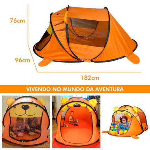 Imagem de Barraca Tenda Cabana Para Criança Praia Camping Laranja
