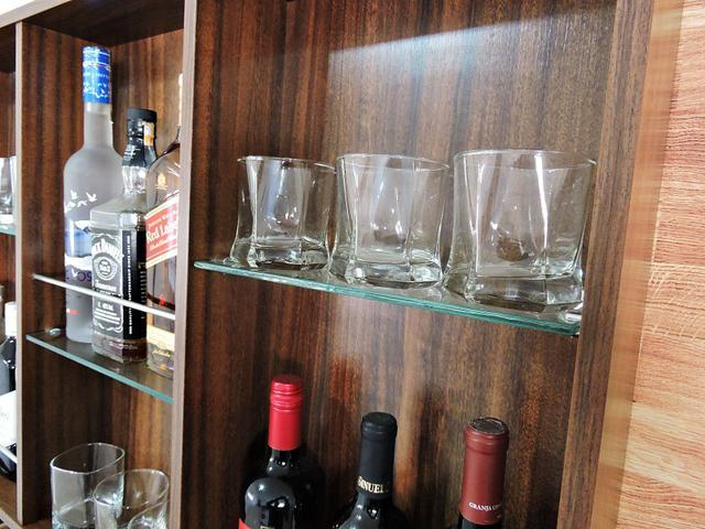 Imagem de Barzinho Para Sala Aparador De Parede Adega Vinhos Bebidas Madeira MDF 100x70cm Imbuia