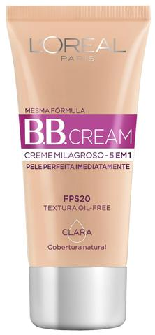 Imagem de Base BB Cream 5 em 1 FPS20 L'Oréal Paris - Cor Clara 30ml