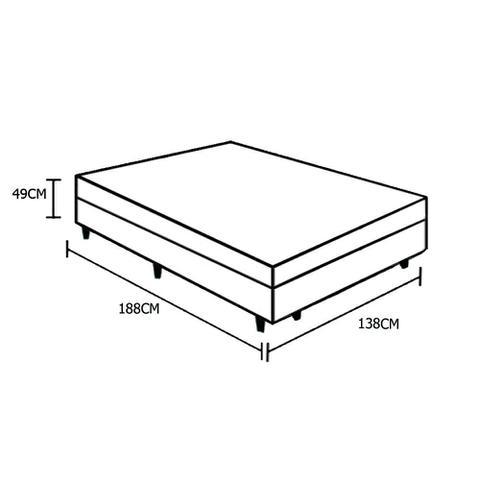 Imagem de Base Box Baú Casal AColchões Sintético Marrom 49x138x188