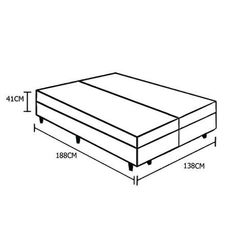 Imagem de Base Box Baú Casal Bipartido AColchões Sintético Branco 41x138x188