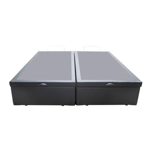 Imagem de Base Box Baú Casal Bipartido AColchões Sintético Cinza 49x138x188