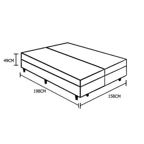 Imagem de Base Box Baú Queen Bipartido AColchões Sintético Marrom 49x158x198