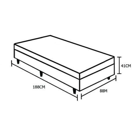 Imagem de Base Box Baú Solteiro AColchões Sintético Branco 41x88x188