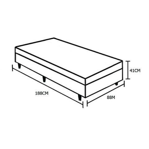 Imagem de Base Box Baú Solteiro AColchões Sintético Preto 41x88x188