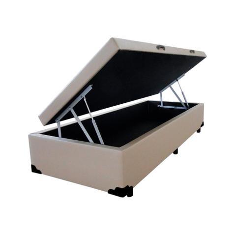 Imagem de Base Box Baú Solteiro Belos Sonhos Sintético Bege 41x88x188