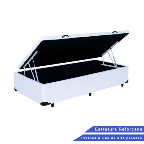 Imagem de Base Box Baú Solteiro Sintético Branco (37x88x188)
