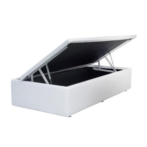 Imagem de Base Box Baú Solteiro SP Móveis Co. Sintético Branca - 39x88x188