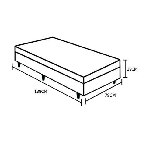 Imagem de Base Box Baú Solteiro SP Móveis Sintético Branca - 39x78x188