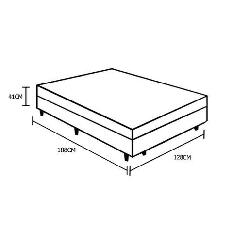 Imagem de Base Box Baú Viúva AColchões Sintético Preto 41x128x188