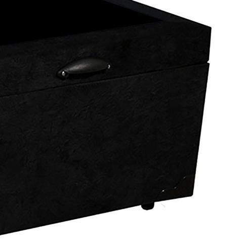 Imagem de Base Box Baú Viúva AColchões Suede Preto 41x128x188