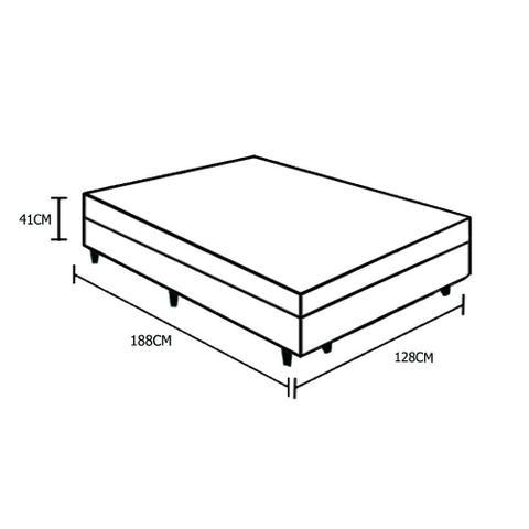 Imagem de Base Box Baú Viúva Belos Sonhos Sintético Branco 41x128x188