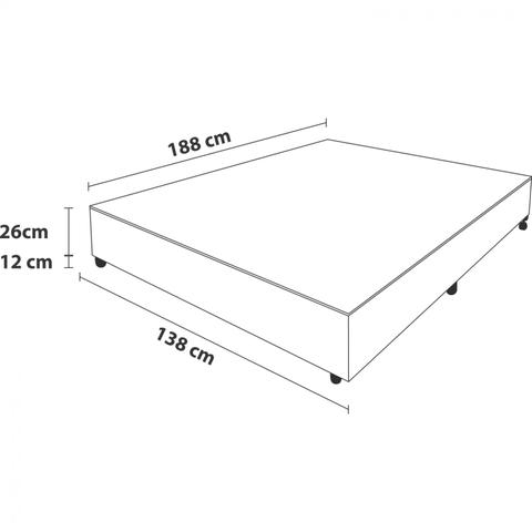 Imagem de Base Box Casal 26cmx138cmx188cm Prodormir Probel Branco