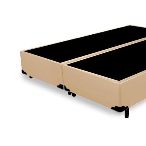 Imagem de Base Box King Bipartido AColchões Sintético Bege 40x193x203