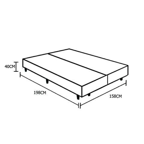 Imagem de Base Box Queen Bipartido AColchões Sintético Preto 40x158x198