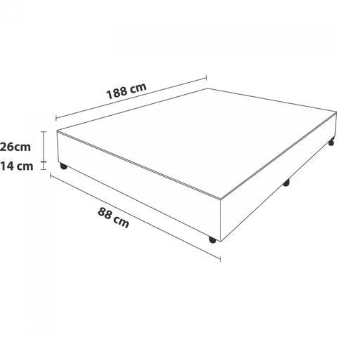 Imagem de Base Box Solteiro 26cmx88cmx188cm Prodormir Probel Chenille Bege