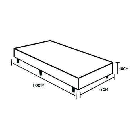 Imagem de Base Box Solteiro AColchões Sintético Marrom 40x78x188