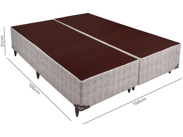 Imagem de Base Cama Box Queen Size Ortobom Bipartido