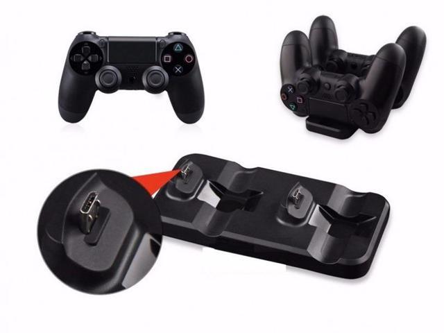 Imagem de Base Carregador Duplo Dock Charge Controle Playstation 4 Ps4 - Oivo