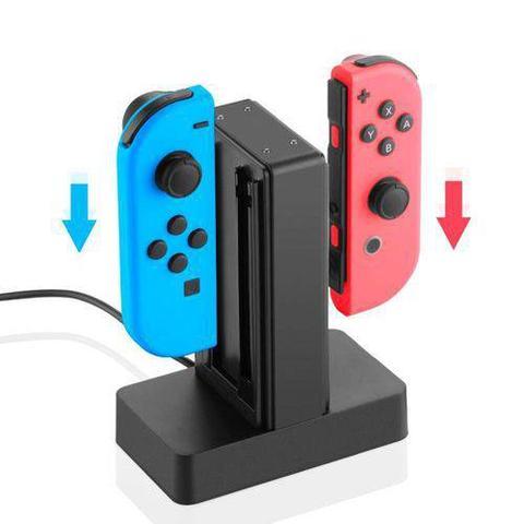 Imagem de Base Carregador Para Joy-con Nintendo Switch Até 4 Joy-con Knup