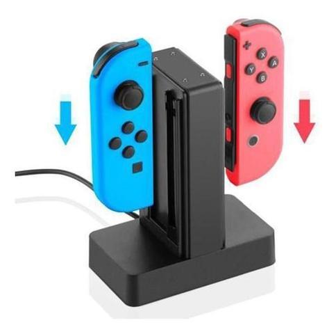 Imagem de Base Carregador Para Joy-con Nintendo Switch P/ 4 Controles