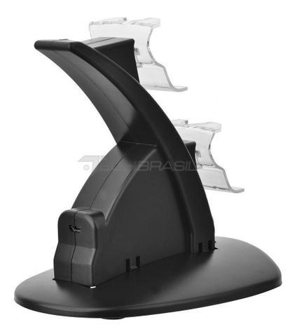 Imagem de Base Carregador Suporte Controle Xbox One X-box Dock duplo Qualidade video game