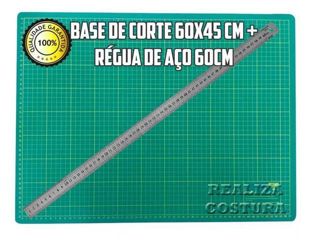 Imagem de Base De Corte A2 60x45cm Modelo Novo Marcações + Régua 60cm