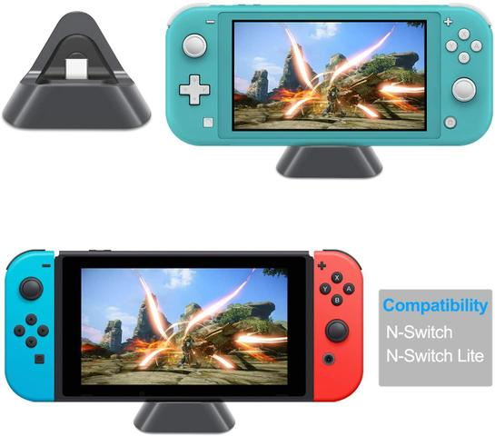 Imagem de Base Dock Carregador Stand Nintendo Switch Lite