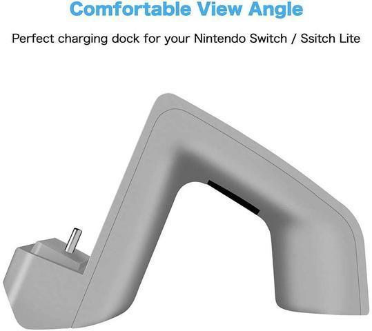 Imagem de Base Dock Carregador Stand Nintendo Switch Lite - Grey