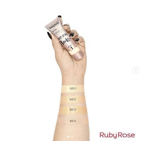 Imagem de Base Líquida Natural Look Bege Cor 3 Ruby Rose