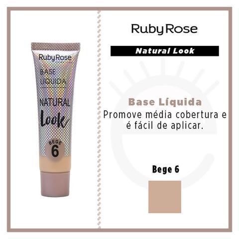 Imagem de Base Líquida Natural Look Bege Ruby Rose